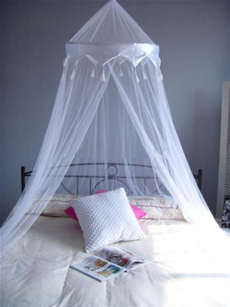 Bed Canopy Uk White Satin Crown Mosquito Net Bed Single King Midge Insect Fly Canopy Uk Ebay