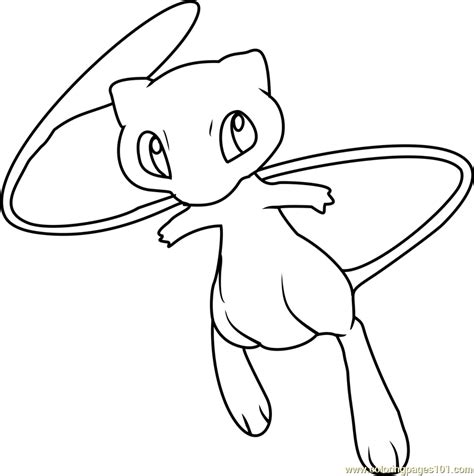 mew pokemon coloring page free pok 233 mon coloring pages