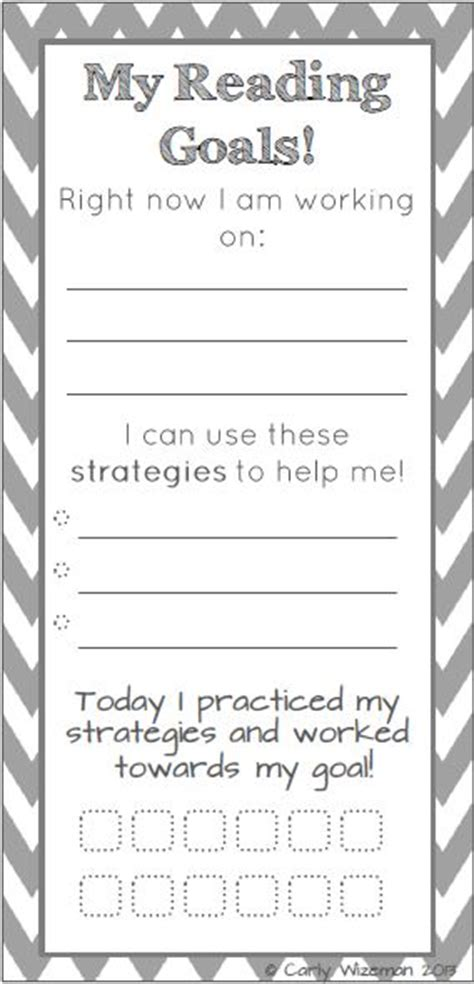 printable reading goal sheets first grade fabulosity