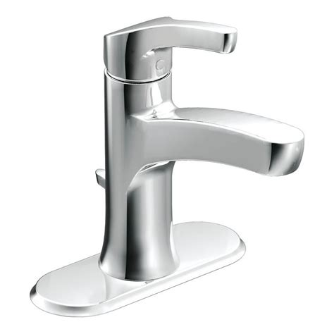 moen danika chrome  handle single hole  centerset watersense bathroom faucet drain included