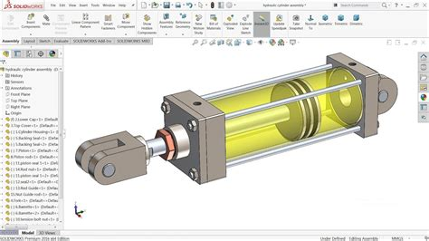 tutorial turbo solidworks solidworks tutorial design of hydraulic cylinder in