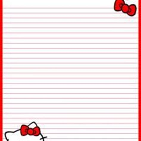 printable hello kitty notebook paper printable stationary on pinterest page borders