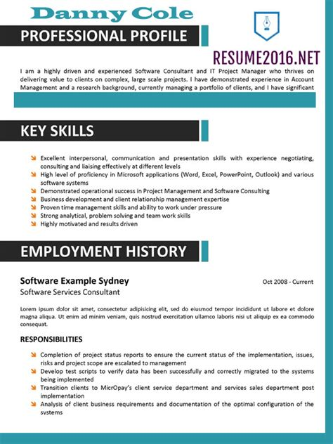 resume format trends 2015 example good resume template