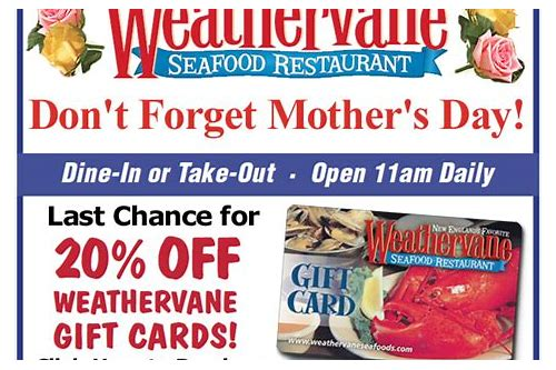 weathervane restaurant coupons 2018