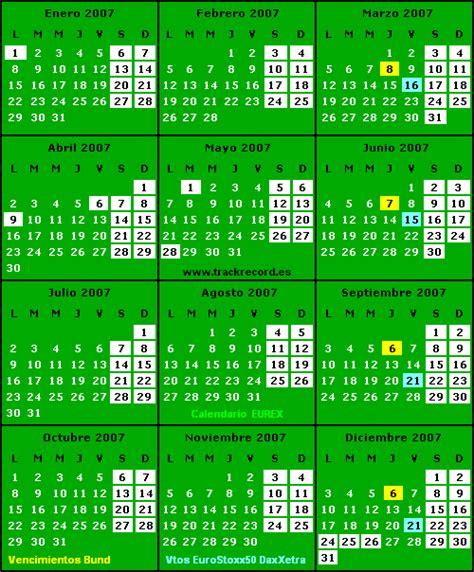 Calendario Noviembre 2007 Trackrecord Diciembre 2006
