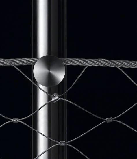 ringhiera metallica parapetto in acciaio inox con rete metallica inox bologna