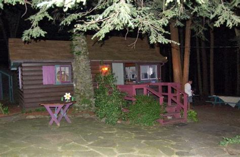 cabin 2 at night picture of babbling brook cottages