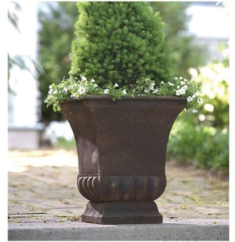 Large Metal Garden Planters by Rustic Metal Urn Large Modern Outdoor Pots And
