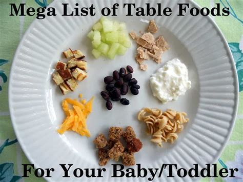 when do babies start table food mega list of table foods for your baby or toddler your