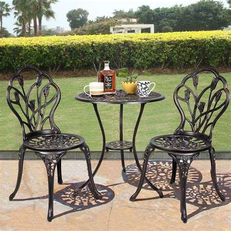 bistro set patio equipment outdoor patio bistro set tulip design in