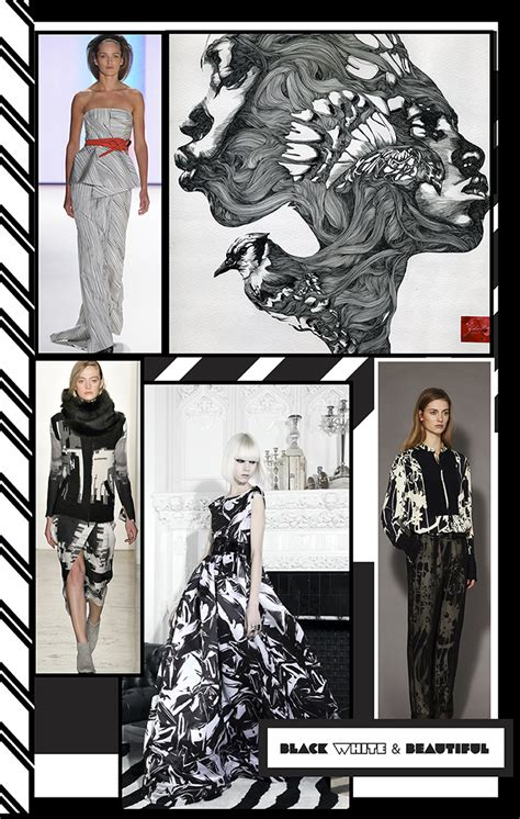 Trend Report Everything Is Beautiful In The World Of Magic Second City Style Fashion by Trend Report Black White Beautiful Pattern Observer