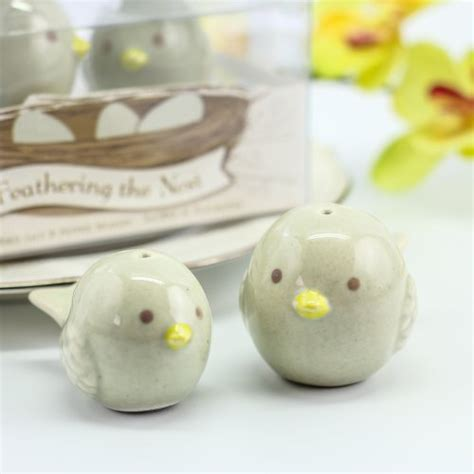 ceramic salt and pepper shakers feathering the nest ceramic birds salt and pepper shakers