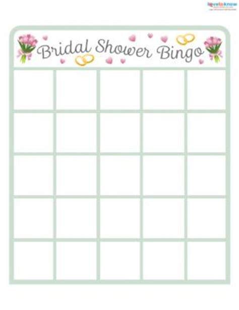 bridal shower bingo card template free unique bridal shower lovetoknow