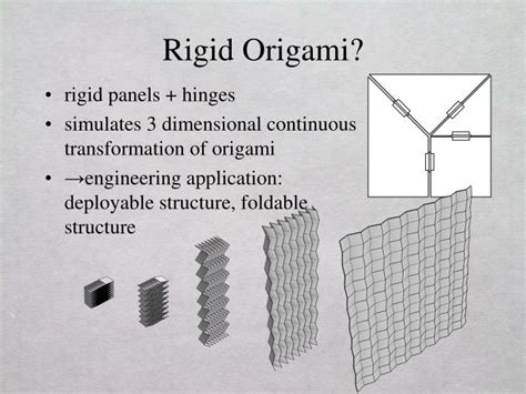 Rigid Origami Simulator - ppt rigid origami simulation powerpoint presentation