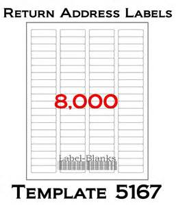 Avery Labels Template 5167 8000 laser ink jet labels return address fits avery size