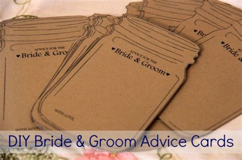 And Groom Advice Cards Template by Diy Template For Jar And Groom Advice Cards
