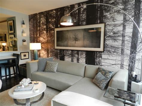 wallpaper design houzz my houzz bachelor s nyc pad contemporary living room