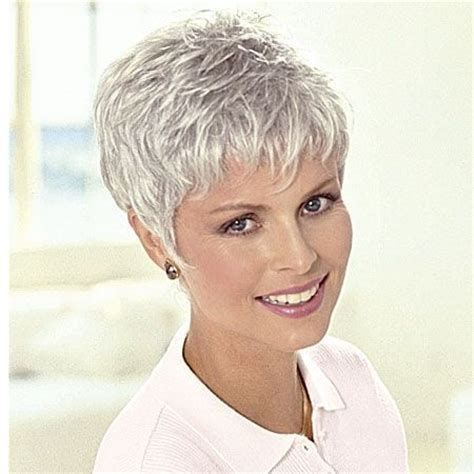 short styles for thick grey hair nice short pixie grey wigs for women over 50 hair