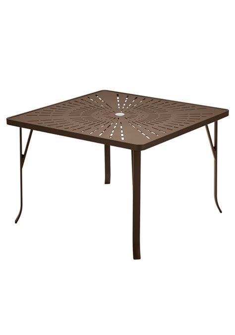 dining table 42 quot square la stratta pattern with umbrella