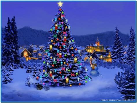 christmas tree lights screensaver download free