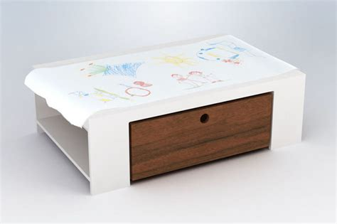 Changing Table Paper Roll Playtable With Paper Roll Modern Changing Tables By Rosenberry Rooms