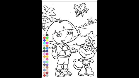 dora  explorer coloring games  kids coloring