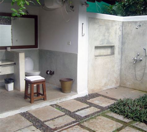 outside bathrooms getting in touch with nature soothing outdoor bathroom