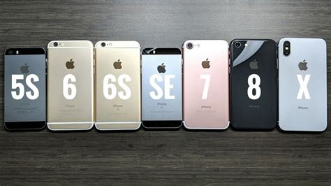 iphone 5s vs iphone 6 vs iphone 6s vs iphone se vs iphone 7 vs iphone 8 vs iphone x ios 11 2