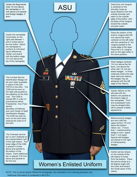 asu class b measurements female army service uniform guide pictures to pin on