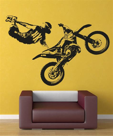 motocross wall stickers wall decals of silhouette wall decals