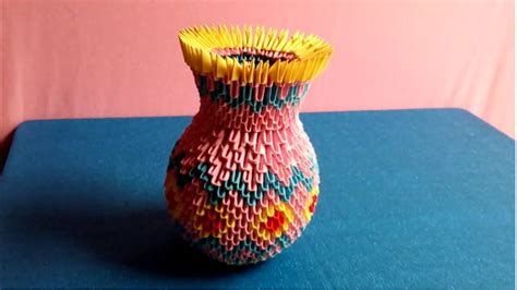 tutorial origami 3d vase origami 3d vase tutorial how to make a vase by paper xếp
