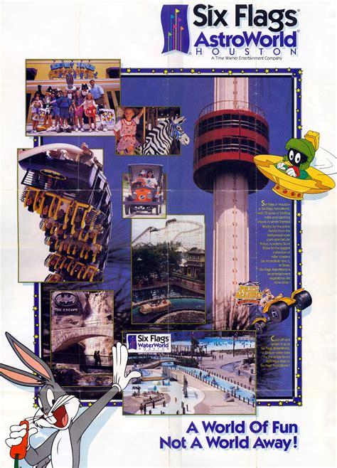 theme park brochures  flags astroworld theme park