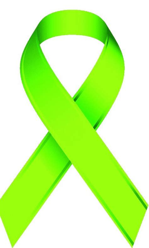 depression ribbon color lime green ribbon for mental health charity inspiration