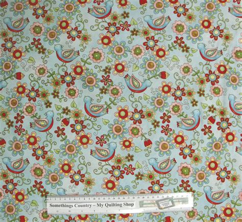 Patchwork And Quilting Fabrics - patchwork quilting sewing fabric birdie floral