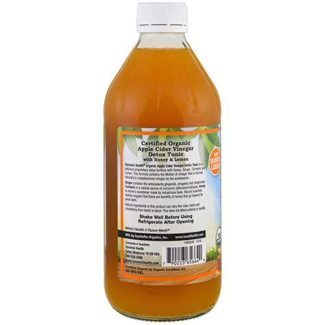 Dynamic Health Apple Cider Vinegar Detox Tonic by Dynamic Health Laboratories تونيك ومزيل السموم خل عصير