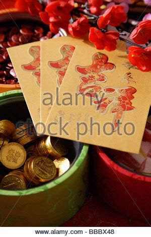 new year goodies box new year prosperity gift bag on white background