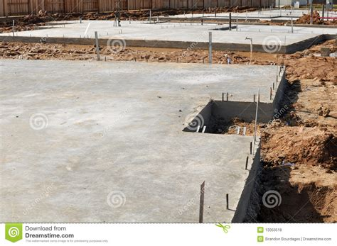 new home foundation new home foundation royalty free stock photos image