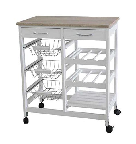 kitchen trolleys and islands home basics kt44136 kitchen trolley with 2 drawers
