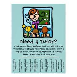 Tutoring Flyer Template by Tutor Promotional Tear Sheet Flyer