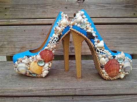 high heel themed inspired themed high heel shoes blue and