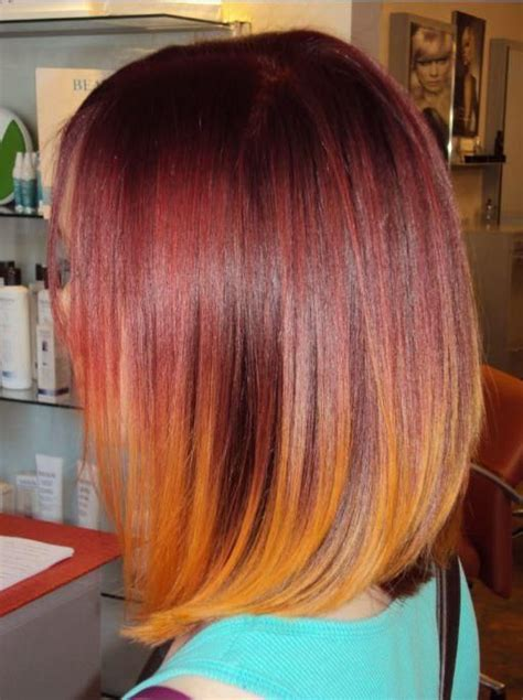 red to blonde ombre bob 26 popular ombre bob hairstyles ombre hair color ideas
