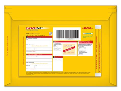 Express Brief Schweiz Usa Dhl Expresseasy Prepaid National Versandtasche