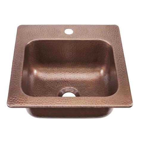 Bar Sink Shop Sinkology Antique Copper 1 Drop In Commercial