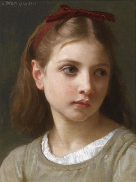 william adolphe bouguereau young girl the athenaeum a little girl william bouguereau