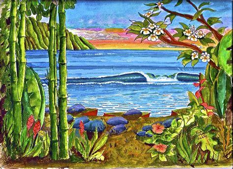 Lumia Dress By Mauri hawaiian paintings hawaiian from hawaii hawaiiartcom