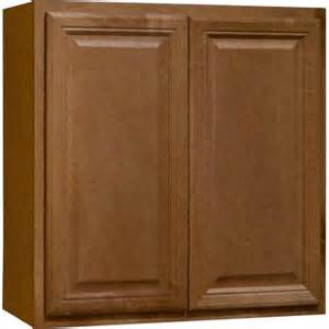 hton bay 30x30x12 in cambria wall cabinet in harvest