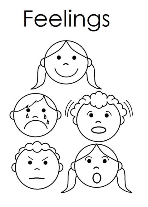 worksheets for preschoolers on emotions a child s place feelings emergent reader feelings