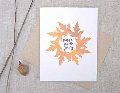 Thanksgiving Cards Handmade - autumn leaves happy thanksgiving card handmade