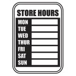 dry erase store hours decal dezign with a z
