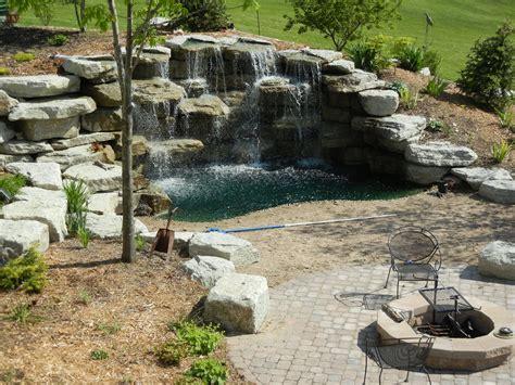 backyard waterfall backyard waterfall water features pinterest
